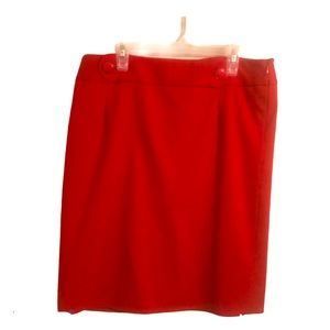 Ann Taylor Loft red skirt